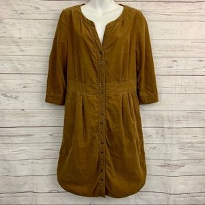 Maeve Anthropologie light corduroy shirt dress